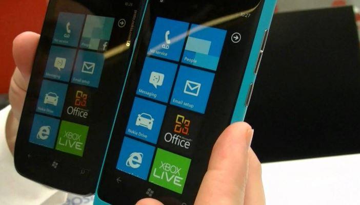 Nokia Lumia 800.