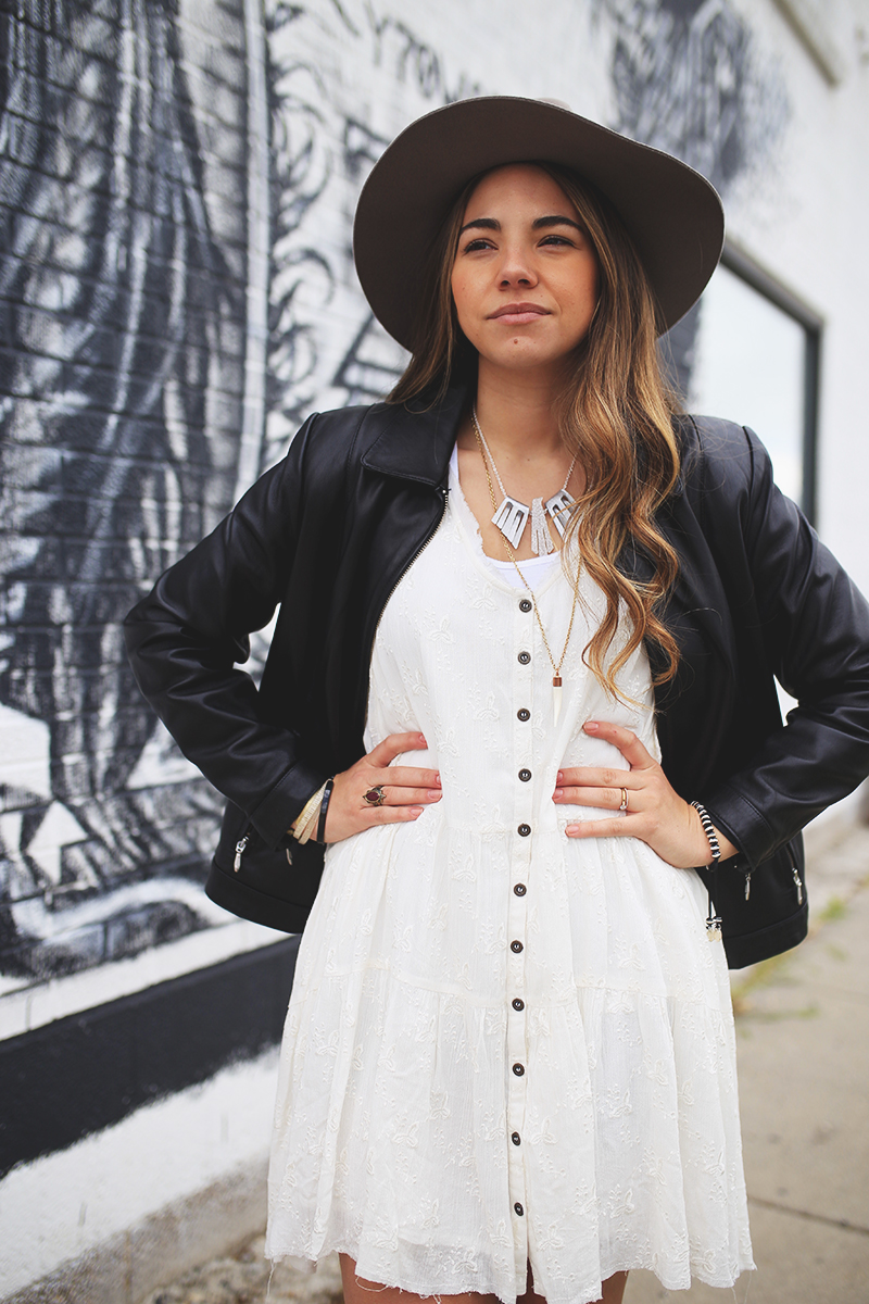 free people dress, utah blogger, edgy style