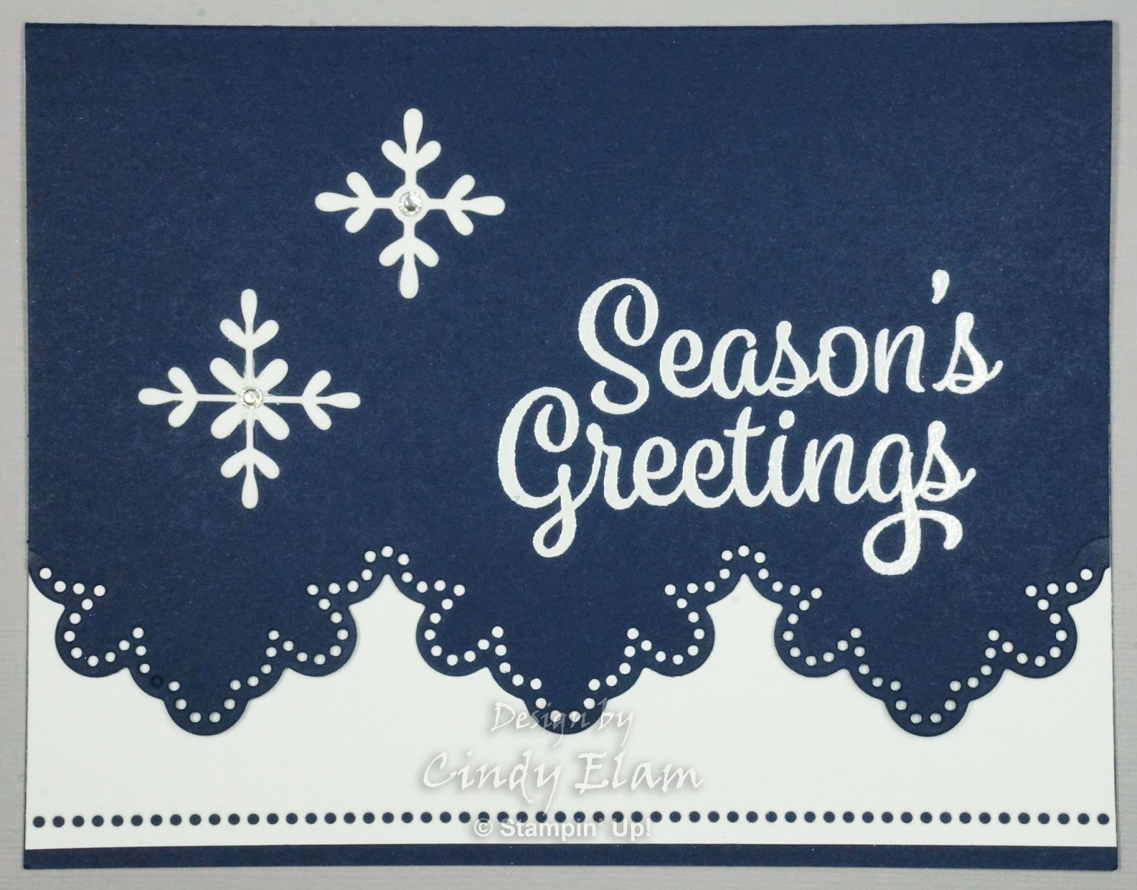 Hearts Delight Cards Simple Snowflake Sentiments