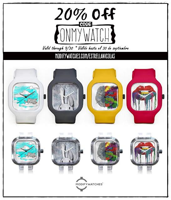 Promoción de relojes creativos
