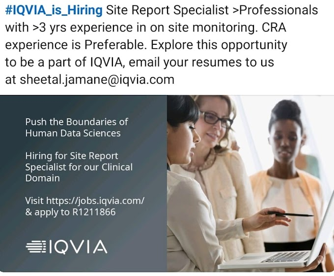 IQVIA Hiring Different Position