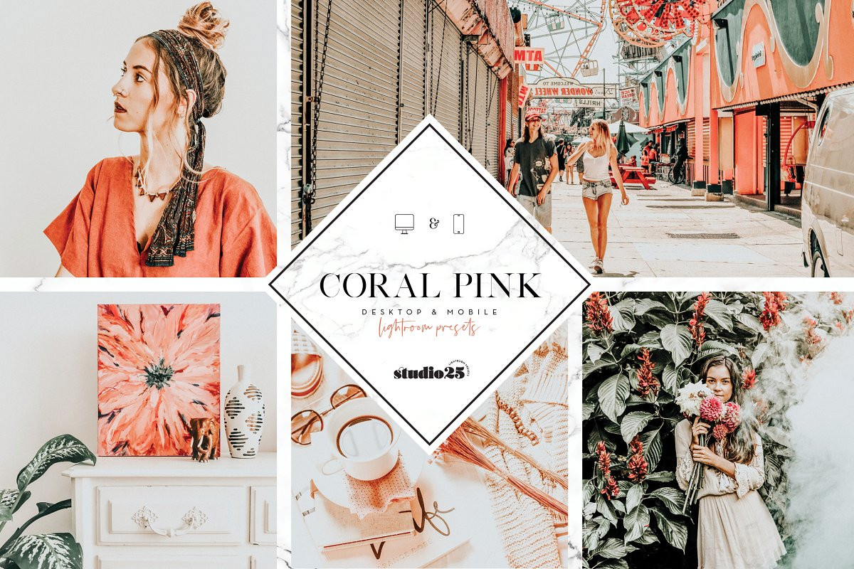 [Chia sẻ Preset Free] Coral Pink Lightroom Preset