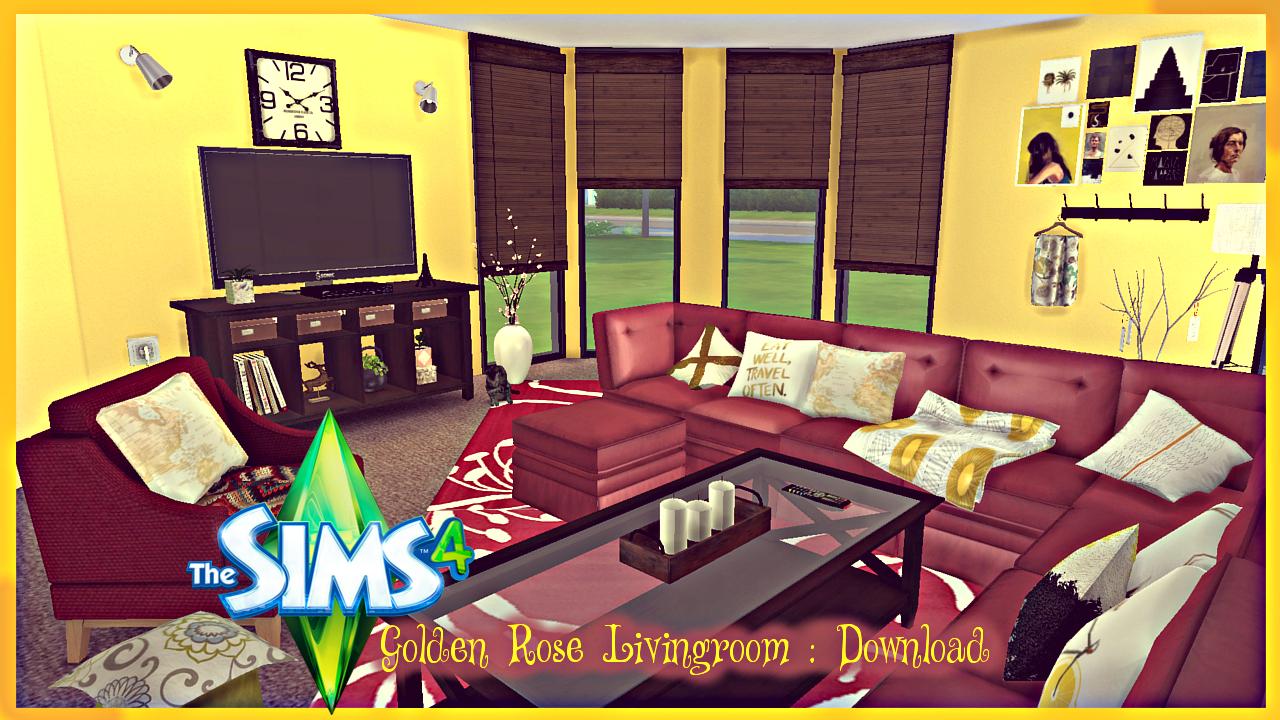 Golden Rose Livingroom The Sims 4 Download The Sims  : GoldenRoseTHUMB from pandashtproductions.blogspot.com size 1280 x 720 jpeg 1382kB