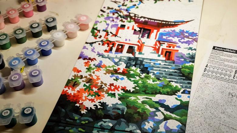 隔離期間在家裡畫塑膠彩畫 (acrylic painting)