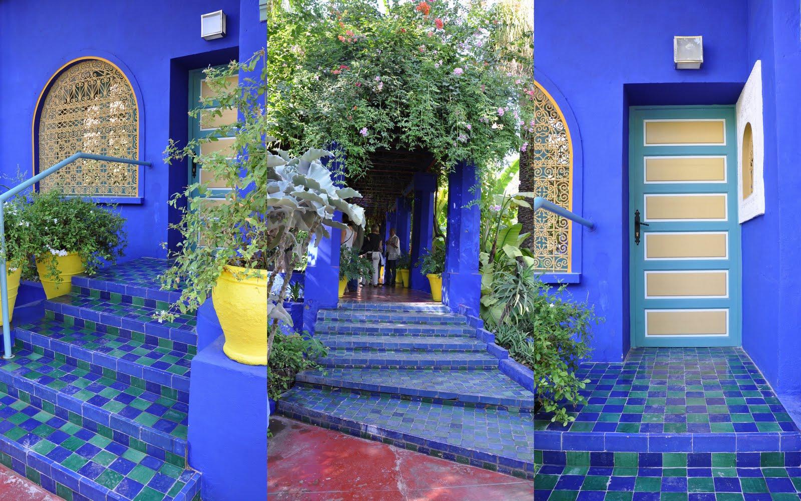 the olive journey jardin majorelle marakech morocco. Black Bedroom Furniture Sets. Home Design Ideas