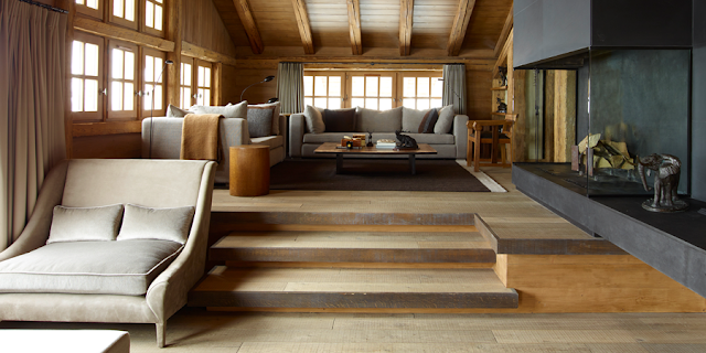 Luxury mountain retreat chalet interior design by Piet Boon