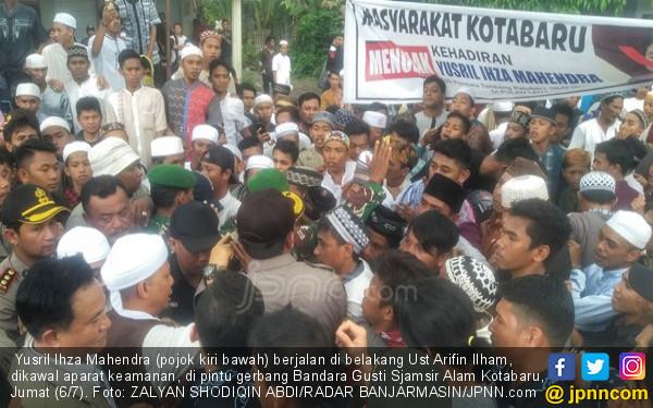 Kronologis Yusril Diadang Massa, Arifin Ilham Turun Tangan