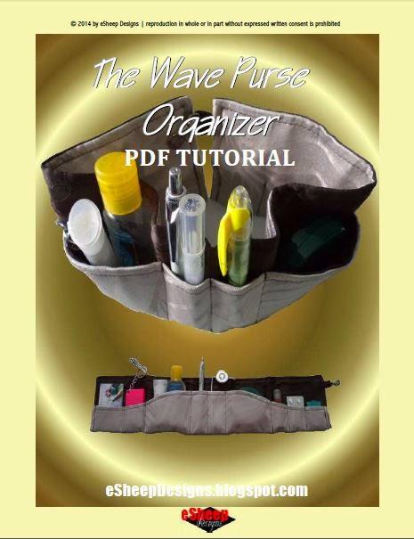 Wave Purse Organizer by eSheep Designs