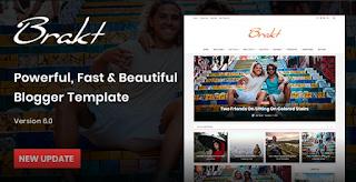 Brakt v5.0 – Blogger Template Free Download