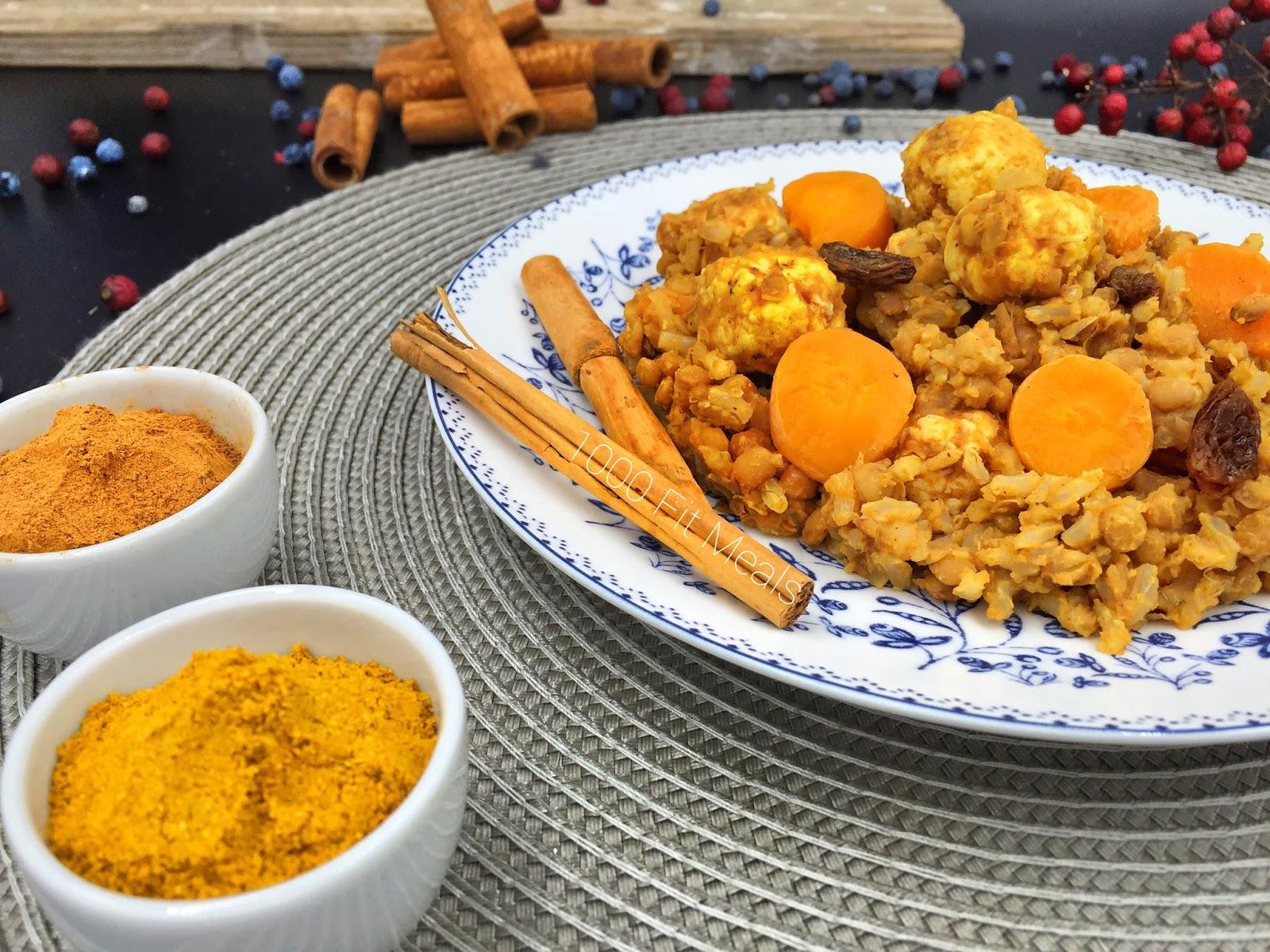 Lentejas con arroz iraní