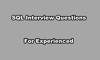 SQL Interview Questions for Experienced Professionals