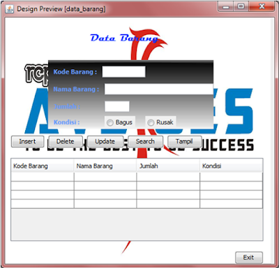 Kelas Informatika - Interface Preview Data Barang