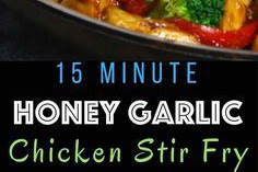 15 MINUTE EASY HONEY GARLIC CHICKEN