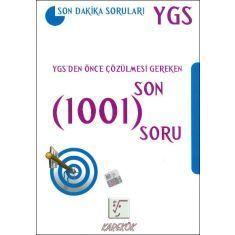Karekök YGS Son Dakika Soruları YGS den Önce Çözülmesi Gereken Son 1001 Soru