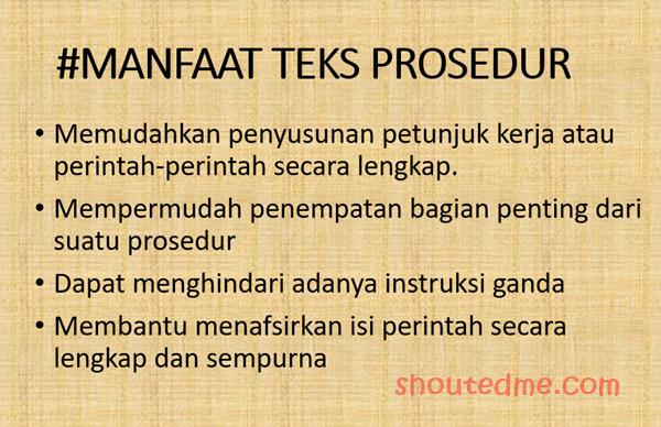 manfaat teks prosedur