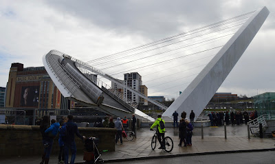 A tilting Millennium Bridge