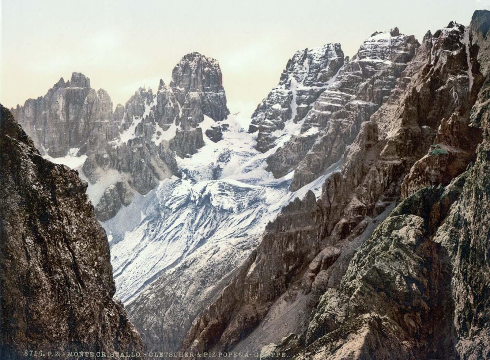 Monte Cristallo and Piz Popena Group.