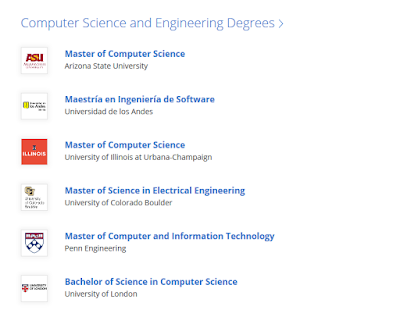 Top 5 Computer Science and Engineer Degrees on Coursera
