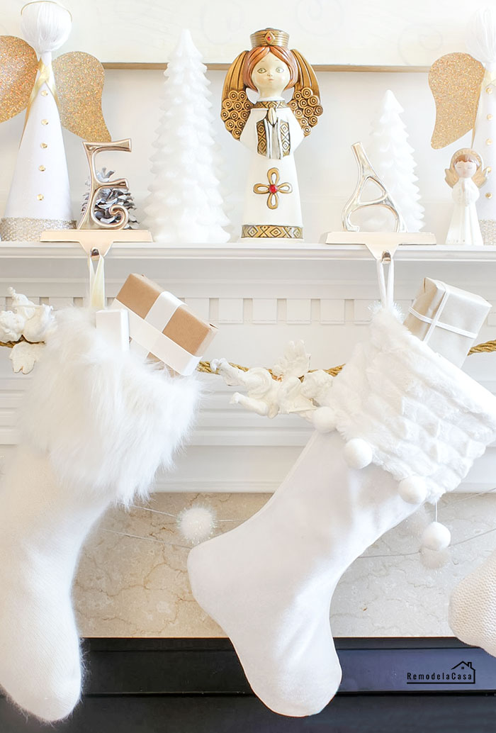 white stockings on mantel