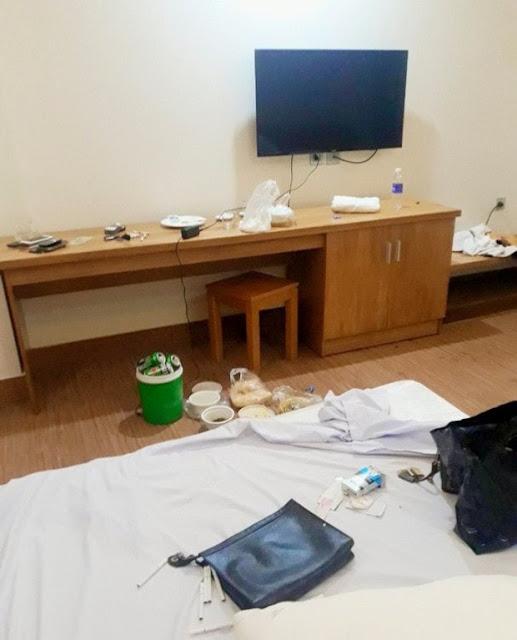 Ập vào khách sạn, công an phát hiện 5 nam nữ đang thác loạn bay lắc