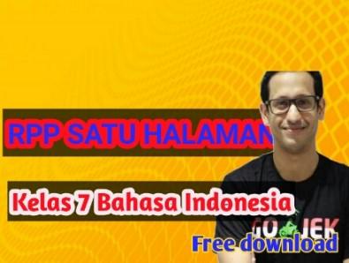 rpp -1- lembar –smp-mts- bahasa- indonesia - kelas -7- semester -1