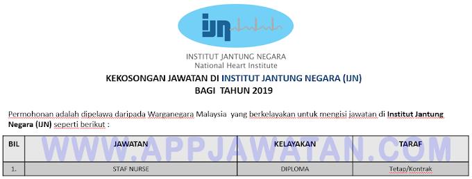 Jawatan Kosong Terkini di Institut Jantung Negara (IJN).