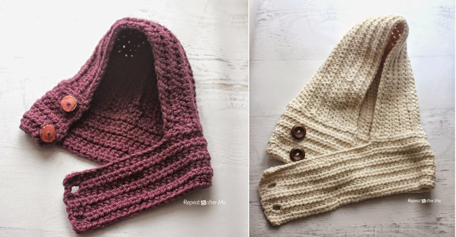 Patrones De Bufandas Con Capucha A Crochet