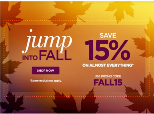 The Shopping Channel Jump Into Fall 15% Off Promo Code