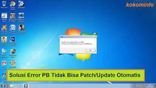 error PB tidak bisa update atau patch