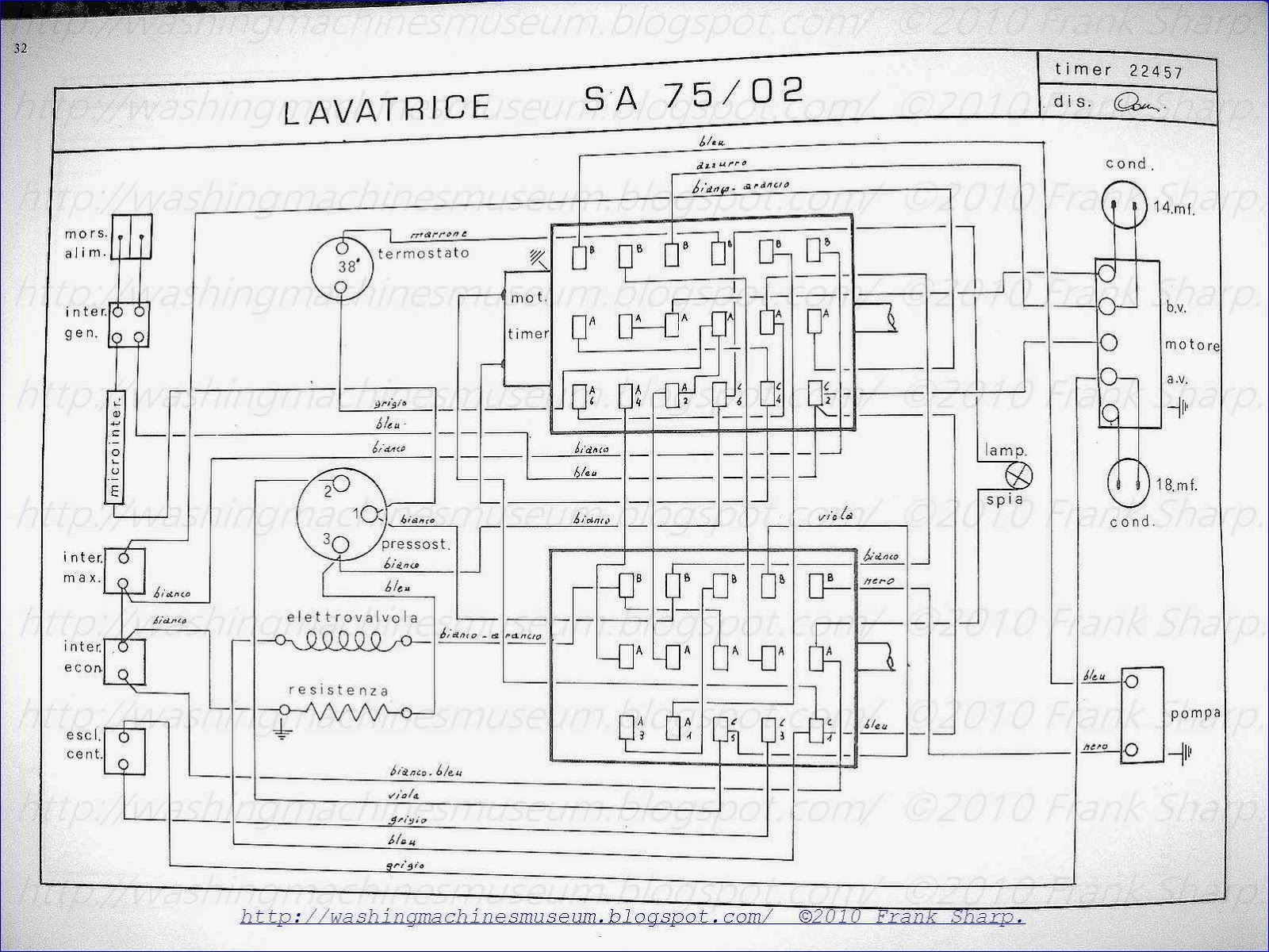 Washer Rama Museum.: CANDY SA75-02 TIMER 22547 SCHEMATIC