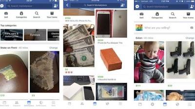 Drogas, sexo, armas, bebes y erizos invaden el nuevo Facebook Marketplace