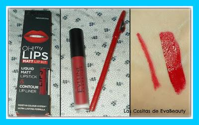 Pack Oh my lips matt lip kit de Eveline Cosmetics