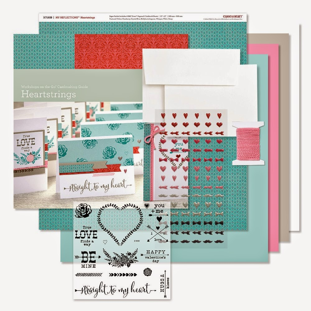 Workshops on the Go® Heartstrings Cardmaking Kit  Item Number: G1090