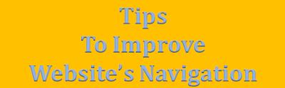 Tips to improve website's navigation