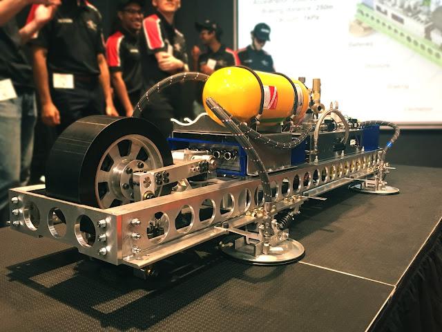 Stellana drive wheel on MIT Hyperloop II Pod