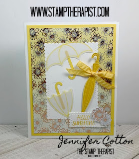 Jennifer shows you how to make this adorable umbrella card using Stampin' Up!'s Under My Umbrella Bundle & Well Dressed Set along with the Flowering Foils Designer Paper!  Click the photo to go to the blog for the video!