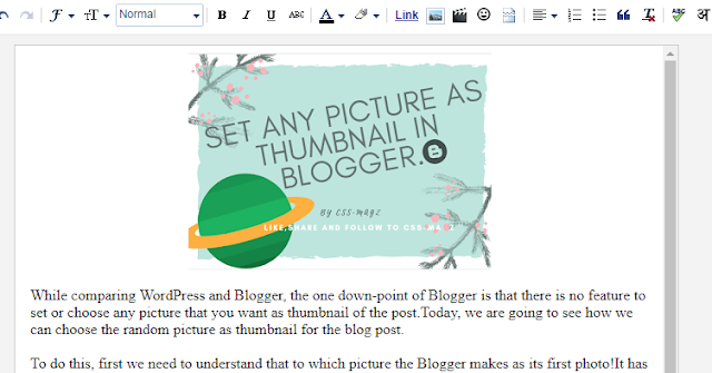 Editing in blogger.