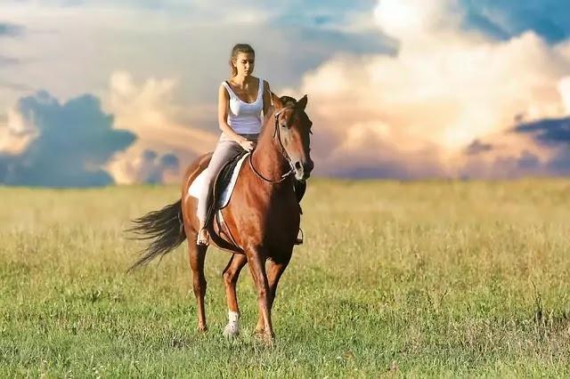 Woman hourse Riding ,