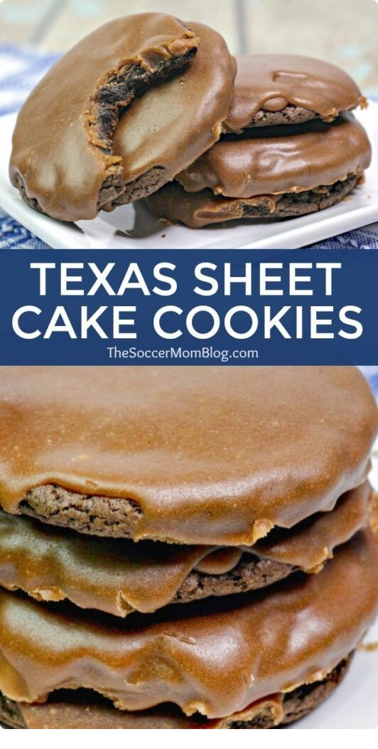Texas Sheet Cake Cookies