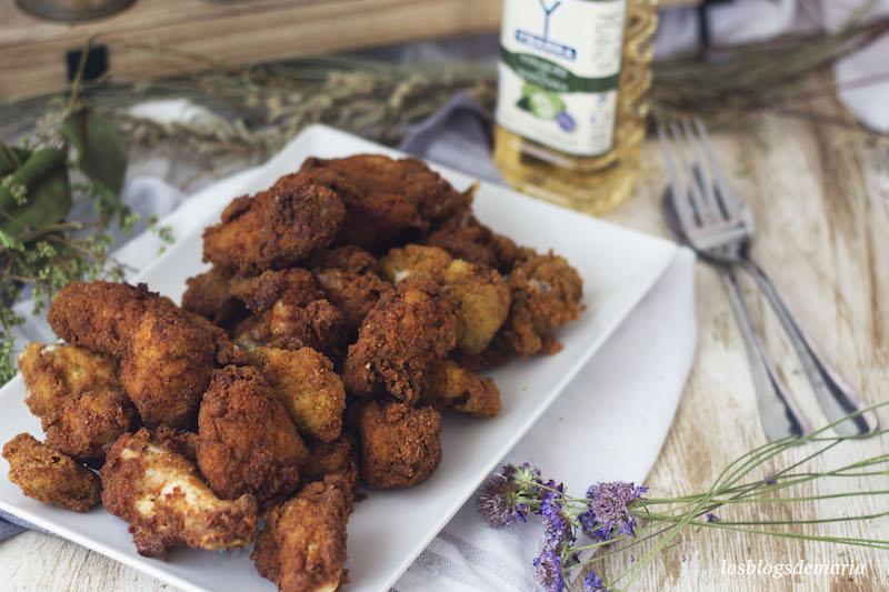 pollo frito al vinagre de manzana
