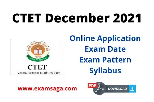 CBSE CTET December 2021 Online Application Form