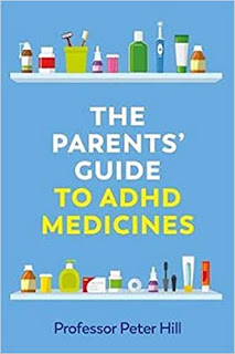 Blue front cover of the book parents guide to adhd medicines