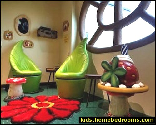 Green Leaf Swivel Chairv  garden playroom decor garden themed bedroom ideas mushroom chair fairy garden bedrooms