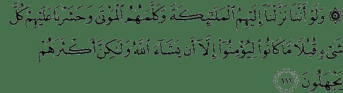 Surat Al-An'am Ayat 111