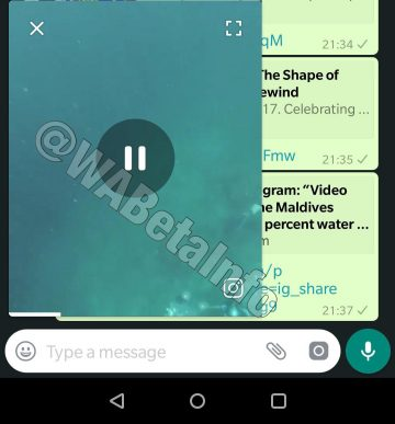 Asyik Mode Picture-in-picture Akan Hadir di WhatsApp Android Tech news