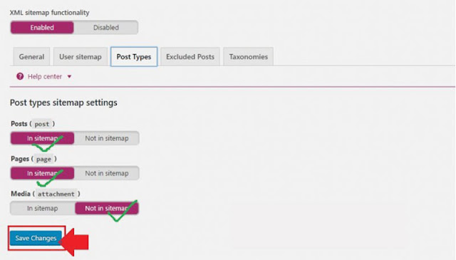 Xml Site Setting In Yoast SEO Plugin