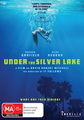 DVD Cover for Umbrella Entertainment's UNDER THE SILVER LAKE.