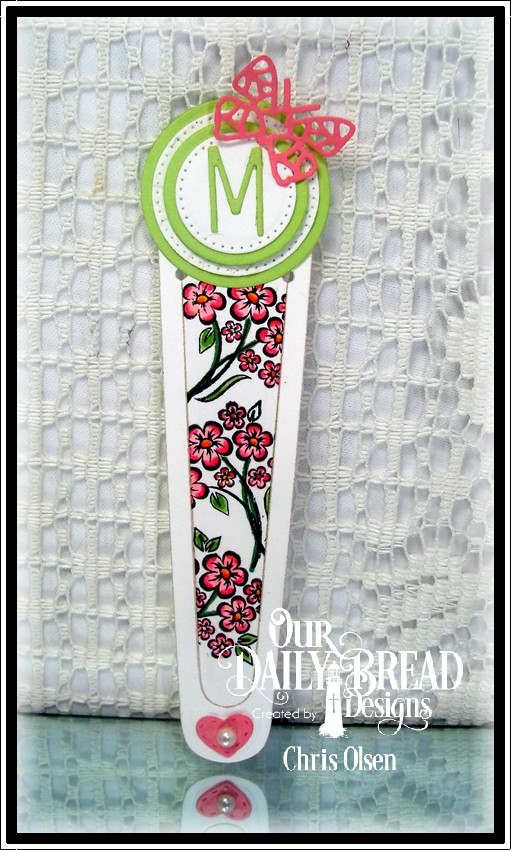 Our Daily Bread Designs, You Bless Me So, dies-Bookmark, Pierced Circles, Circles, Bitty Butterflies, Mini Stitched Hearts, designed by Chris Olsen