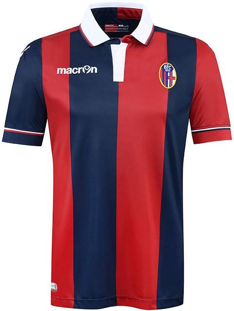 Macron apresenta as novas camisas do Bologna - Show de Camisas d273b9ac8af6c