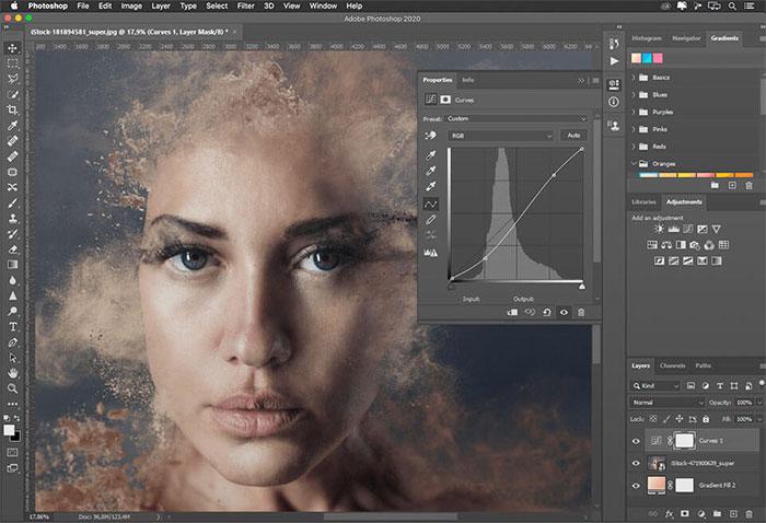 giao diện Adobe Photoshop CC 2021